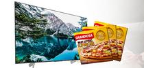 При покупке большого телевизора получите в подарок целый ящик пиццы Grandiosa!