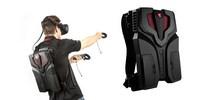 Игровой компьютер MSI VR One в форме рюкзака виртуальной реальности.