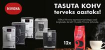 Nivona espressomasinaga kaasa tasuta kohv terveks aastaks!