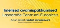Avame uuenenud  Lasnamäe Euronicsi!  Uskumatud avamispakkumised kehtivad 23.- 25. augustini!
